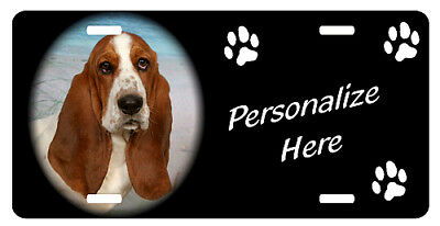 Basset Hound    #1    Personalized    Automobile License Plate
