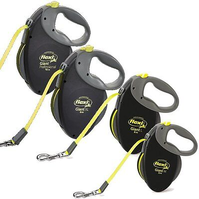 FLEXI Giant Tape Neon Strongest Retractable dog leads, 25,50 & 75kg, 8 & 10m