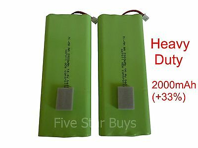 2 x OZRoll Roller Shutter Battery Replacement Heavy Duty 2000mAh Smart Drive