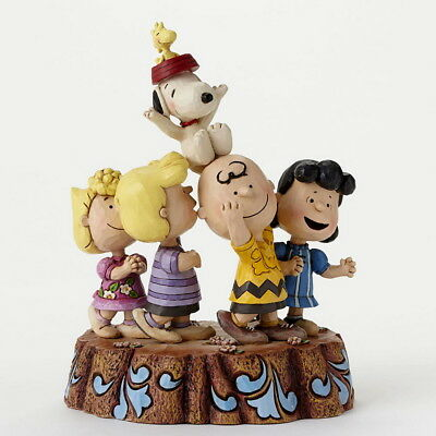 "THE PEANUTS Skulptur ""HOORAY 65TH ANNIVERSARY"" Jim Shore Figur 4044685 - NEU !!"
