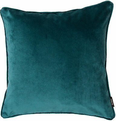 Teal Matt Velvet Cushions and Covers, Self Piped. By Mcalister