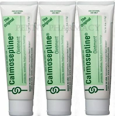 Calmoseptine Ointment Tube 4oz ( 3 pack ) FRESH PHARMACY STOCK!