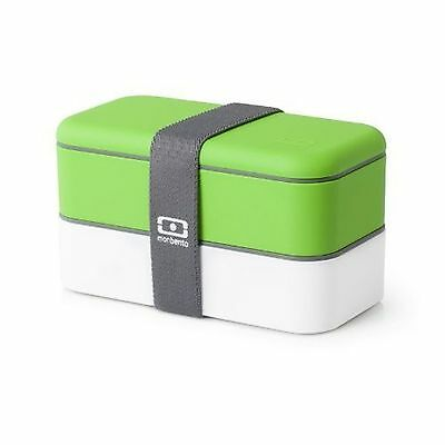 MB Original Green-White The Bento Box Lunch Container Food Case Picnic