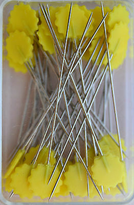 Quilt - Pins with Flower head Yellow