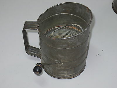 Vintage Metal Measuring Sifter.One Two Three Cups