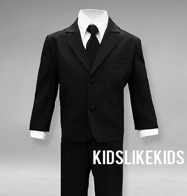 NEW Boys Formal Suits for Kids in Black Size Small to Size 20 Complete outfit