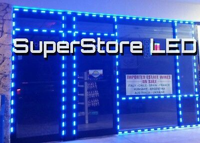 Tattoo Shop Lights , Barber Shop Storefront Led Lighting,  20 Ft Ultra Blue
