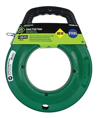 Greenlee Steel Fish Tape FTS438-125 Oil-Tempered Spring Steel - NEW -MagnumPRO