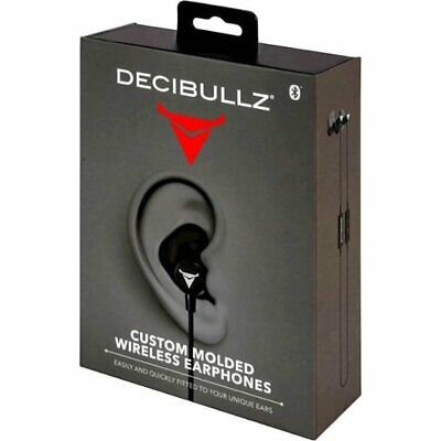 Decibullz WL2-BLK Custom Molded Fit Wireless / Bluetooth Earphones in Black