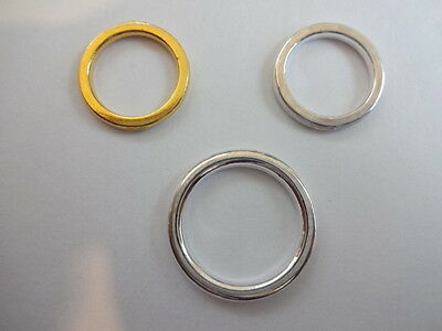 Nickel Safe Tibetan Heavy Duty Large Closed Curtain / jewellery Ring Connectors