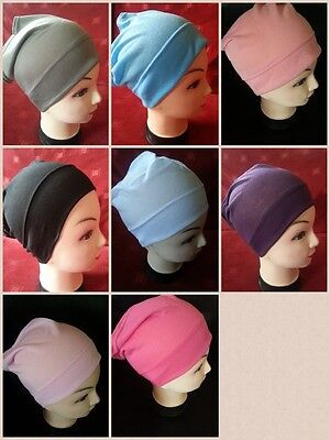 Women Ladies  Under Scarf Hijab Tube Bone  Bonnet Cap Many Colours Stretchable