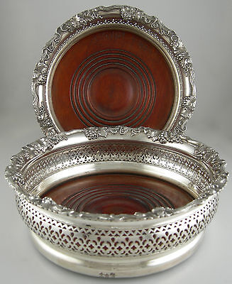 Pair of Oversized Silverplate Coasters
