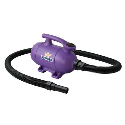 XPOWER B-2 Pro at Home Pet Grooming Blower Dog Force Hair Dryer & Vacuum- Purple