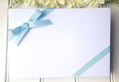 "Handmade  Presentation Box Made To Measure ""just 4 U"" Guest Books Only!!!!"