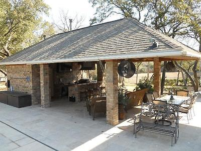 Outdoor BBQ Kitchen Bar / Cabana / Pool House / Bathroom / Plans, 16'w  x  30'd