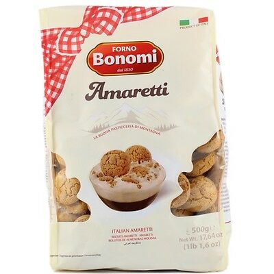 NEW Forno Bonomi Amaretti Italian Speciality Coffee Biscuits Macaroons 500g