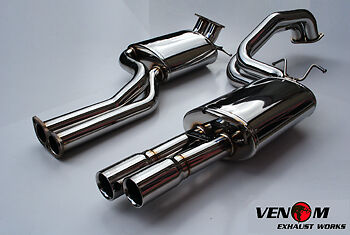 Ford BA/BF XR6T Turbo Stainless Steel Cat Back Exhaust System Twin 2.5""