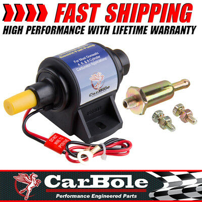 4-7 PSI 35 GPH Micro Electric External Fuel Pump For Use w/Carburetor Ford