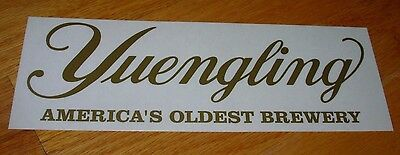 YUENGLING BREWERY promo GOLD LOGO BUMPER STICKER decal craft beer brewing