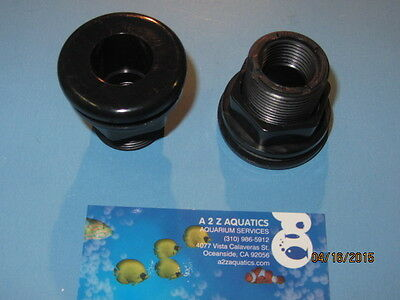 "1"" Bulkhead Fitting Socket x Thread - High Quality Black ABS"