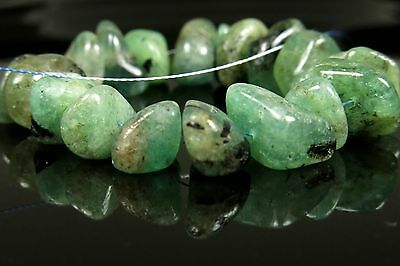 Emerald Chips - Strand Length 10cm (3.93 inches) - 3973A