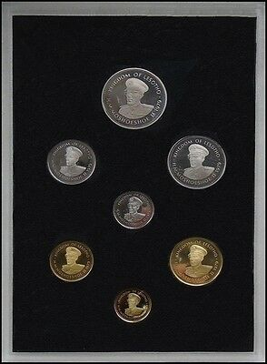 Lesotho 1 Sente - 1 Loti 7 Pieces (PCS) Coin Set, 1979, Mint, First Coinage