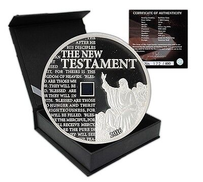 Burkina Faso 1,000 Francs, 1 oz. Silver Proof Coin, 2016,The New Testament Bible