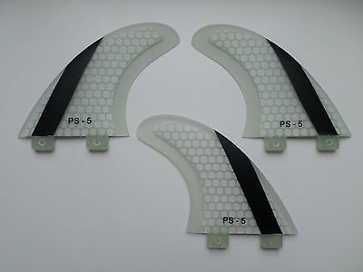 GT stripe PERFORMANCE CORE surfboard THRUSTER FINS (set x 3) hexcore FCS compati