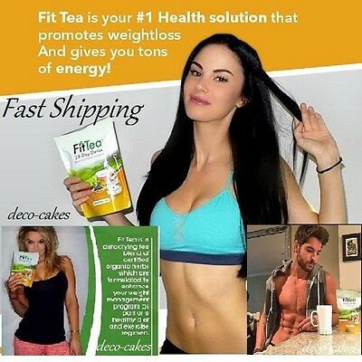 Fit Tea 28 Day Detox Promotes FAT BURNING Weight Loss NO GMO