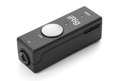 NEW IK Multimedia Irig Pro Portable Audio Midi Interface for Mac IOS Ipad Iphone