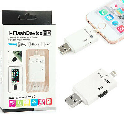 i-FlashDrive USB Micro SD TF Card Reader Flash Drive Adapter For iPhone 6 Plus C