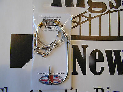 Heavy duty Big game boat rig - 150lb wire snood - 9/0 shark hook - High quality