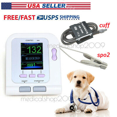 FDA Vet Veterinary OLED digital Blood Pressure&Heart Beat Monitor NIBP SPO2,US