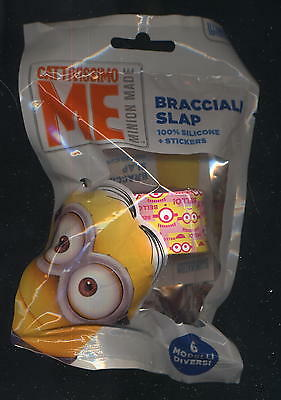 SLAP bracciale + stickers CATTIVISSIMO ME MINION rosa/giallo silicone - sealed