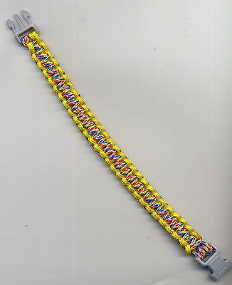 PARA BANDS braccialetto parabands paracord 19,5x1,2cm giallo/multicolor MIB