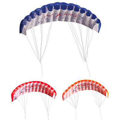 3Color Outdoor Dual Line Parafoil Parachute Stunt Sport Beach Kite  Fly Tool New