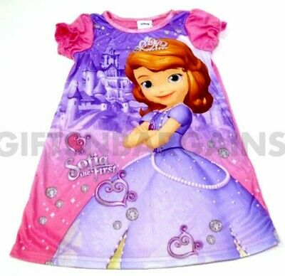 Disney Sofia The First Night Dress Size 5/6 Girls Pj Night Shirt Sleepwear