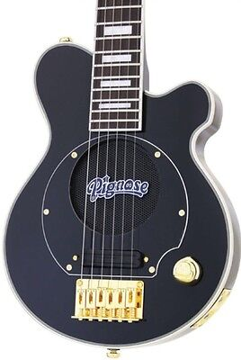 "NEW Pignose "" BLACK, GOLD"" DELUXE Mini Electric Guitar w/Built-In Amp, Amplifier"