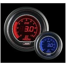 Prosport 52mm EVO Car Oil Pressure Gauge Red and Blue LCD Digital Display