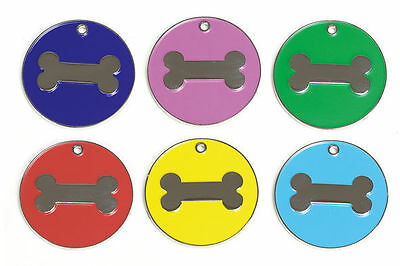 Engraved Pet Dog Puppy Identity Disc, Id Disc, Id Tag, Bone Design Personalised