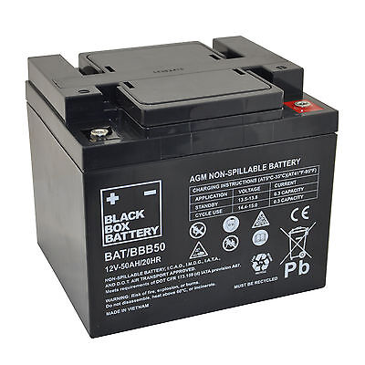 12V 50Ah BBB Sealed Lead Acid (AGM) Mobility Scooter Battery