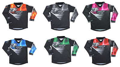 New Wulfsport Kids (All Sizes+ Colours) Motocross Jersey Shirt Youth Child Quad
