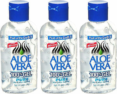 Fruit Of The Earth Aloe Vera 100% Gel Pure 56G X3 Triple Pack- No Alcohol,colour