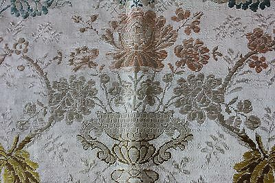 Beautiful 18thC (1700s)  French Antique Silk Brocade Fabric~Museum Deaccession