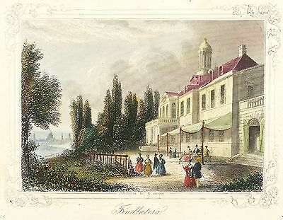 LOSCHWITZ (DRESDEN) - FINDLATERS BERG-PALAIS - Payne - kolor. Stahlstich 1842