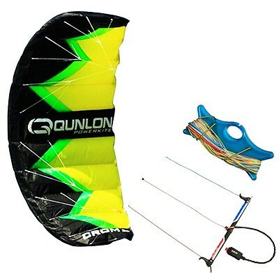 3-line Traction Kite with Line and Control Handle Kit Trainer for Kitesurfing 2m