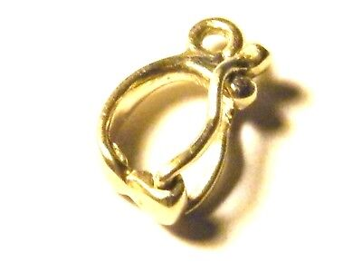 18ct Yellow Gold  Large Clip Bail -Chain Pendant Bail -Findings 4 Fine Jewellery