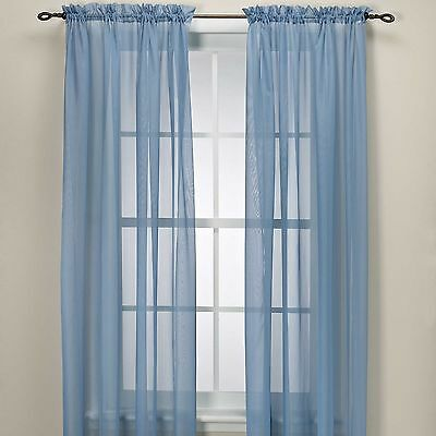 Sheer Scarf Window Treatments Curtains Drape Valances 63 84 95 Navy Blue Picclick