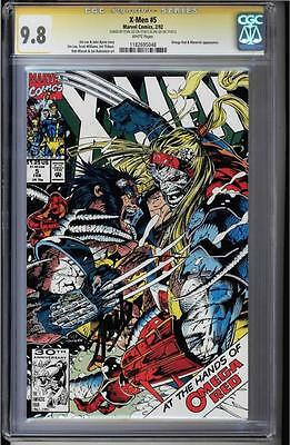 X-Men #5 Cgc 9.8 Ss Signed 2X Stan Lee & Jim Lee Omega Red #1182695049