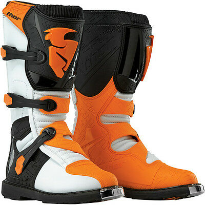 Thor Blitz Boots Orange Mx Motocross Enduro Quad Atv Off Road Cheap New Off Road